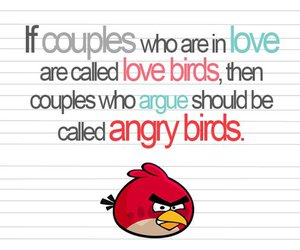 angry birds, couple, and quote image