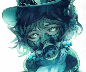 garcon, manga, and masque a gaz image
