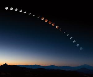 moon, sky, and world image