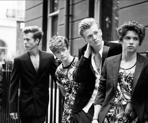 back and white, the vamps, and james mcvey image