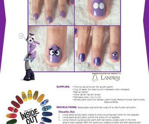 disney, nail art, and inside out image