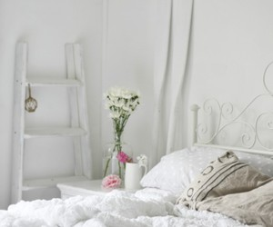 bedroom, shabby chic, and romantic image