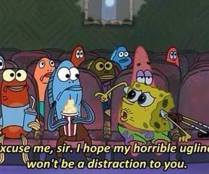 spongebob, ugly, and funny image