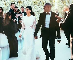 kim kardashian, wedding, and kanye west image