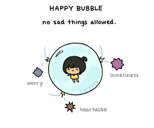 happy and bubbles image