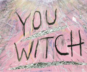 witch, pink, and grunge image