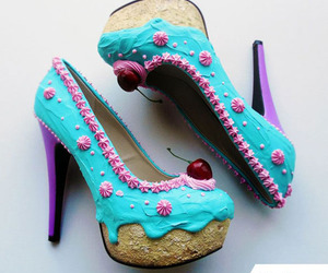 shoes, cake, and heels image