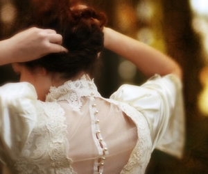 lace, hair, and white image