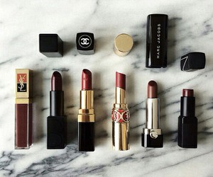 lipstick, makeup, and chanel image