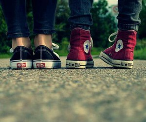 converse, vans, and shoes image