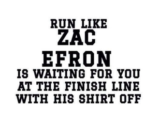 zac efron, run, and motivation image