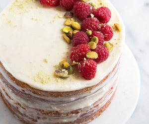 cake, coconut, and food image