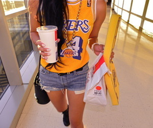 lakers, girl, and swag image