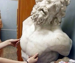 art, funny, and statue image