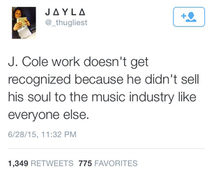 Devil, music industry, and j cole image