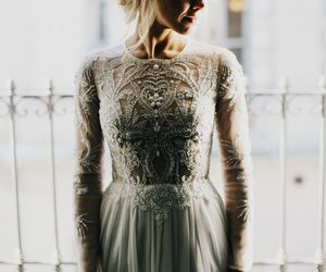 alone, dress, and hair image