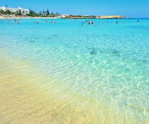 beach, cyprus, and sand image