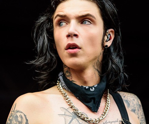 andy biersack, black veil brides, and handsome image