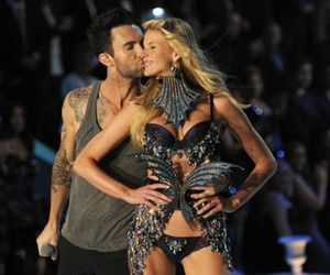 adam levine, Victoria's Secret, and kiss image
