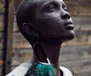 beautiful, face, and black woman image