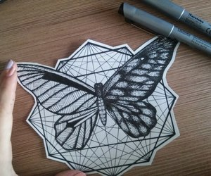 butterfly, cool, and drawing image