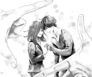 black&white, happy, and manga image