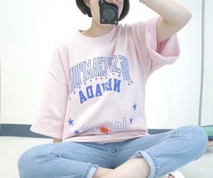 aesthetic, girl, and jeans image