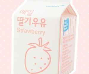 pink, korean, and milk image