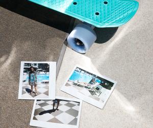 blue, photos, and skateboard image