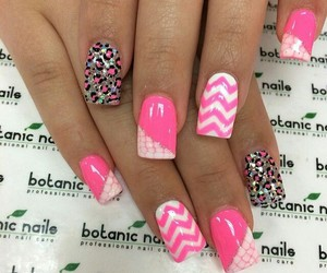 pink, nails, and girl image
