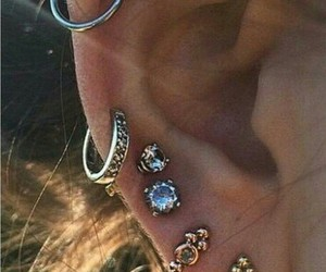 beautiful, earring, and Darkness image