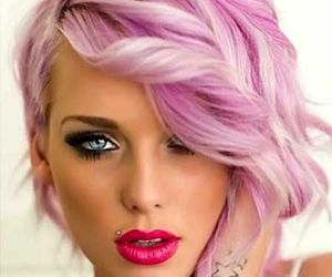 hair style and hair color image