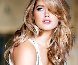 hair, blonde, and Doutzen Kroes image