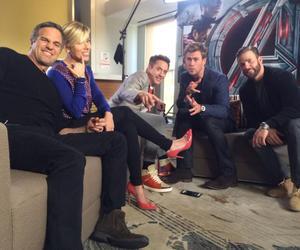 chris evans, mark ruffalo, and Scarlett Johansson image