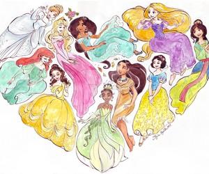 princess, disney, and heart image