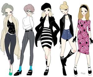 animation, illustration, and fashion image