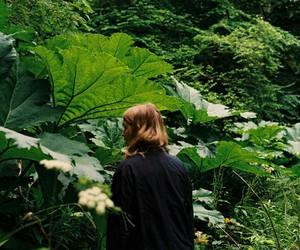 green, girl, and plants image