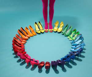 colorful, heels, and shoe image