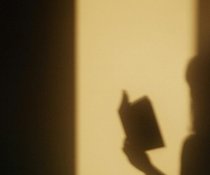 book, shadow, and reading image