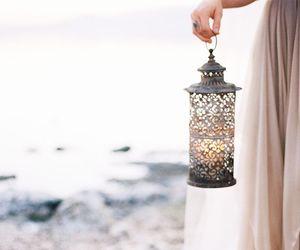 beach, candle, and dress image