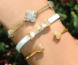 accessoires, bow, and bracelets image