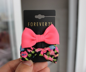pink, bow, and forever 21 image