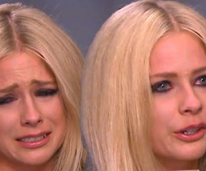 Avril Lavigne, tears, and gma image
