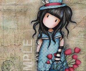 art, hat, and illustration image