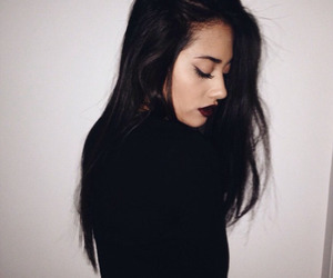 girl, black, and hair image