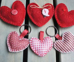heart, key chain, and sweet image