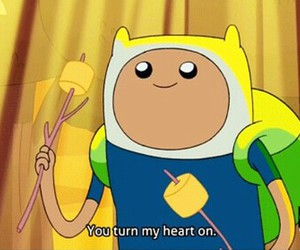 adventure time, finn, and heart image