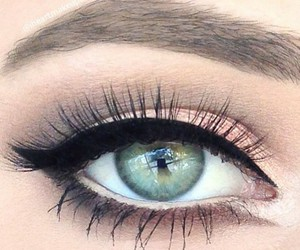 makeup, blue eyes, and eyes image