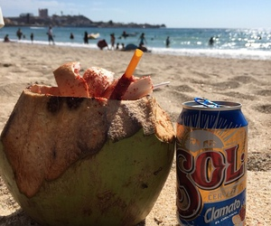 beach, beer, and ocean image