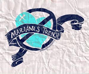 band, band logo, and blue image